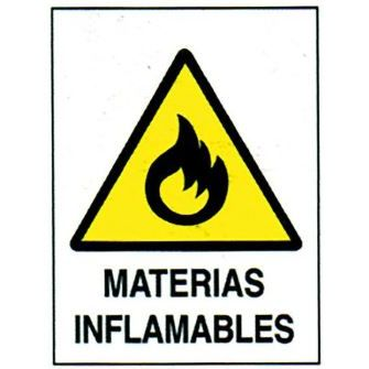 CARTEL MATERIALES INFLAMABLES