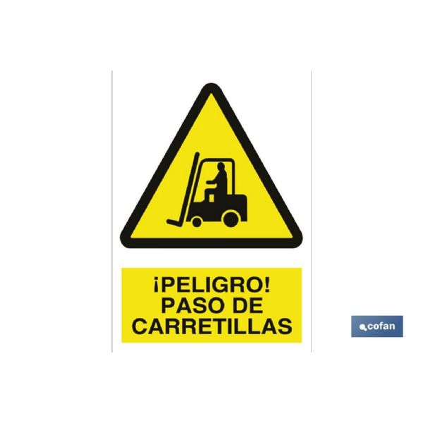 CARTEL PELIGRO PASO CARRETILLA 297X210MM