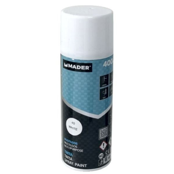 PINTURA SPRAY 400ML BLANCO MATE ref1007 mader