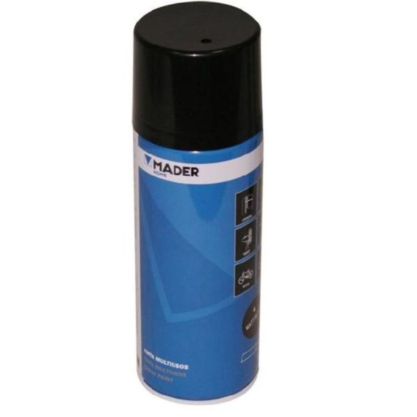 PINTURA SPRAY NEGRO MATE 400ML mader